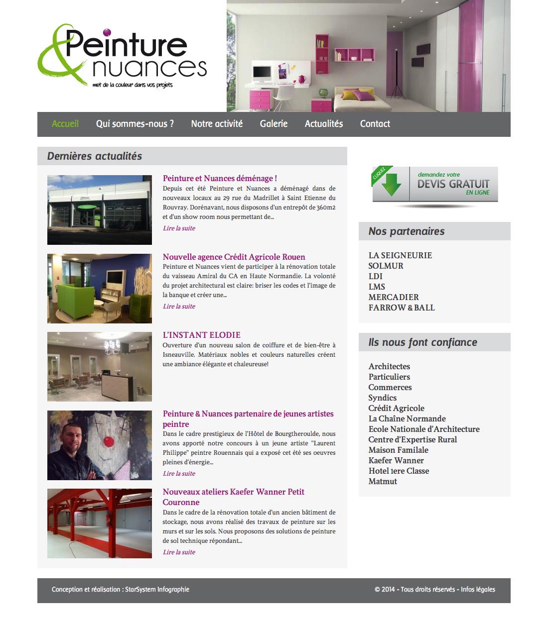 Peintres Ecole De Rouen création site internet rouen seine-maritime haute-normandie