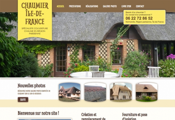 creation site internet chaumier paris ile de france