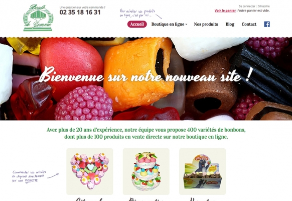 creation site internet commerce bonbons grand quevilly rouen