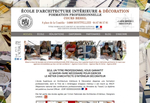 creation site internet ecole montpellier