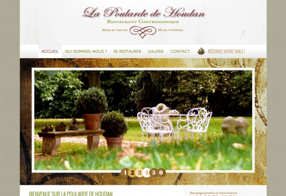 creation site internet restaurant gastronomique versailles